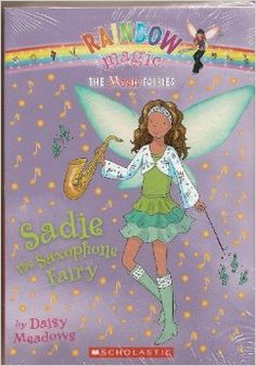 The Music Fairies Set, Books 1-7 (Rainbow Magic) by Daisy Meadows.  Cover image from amazon.com.  Click the cover image to check out or request the children's books kindle.