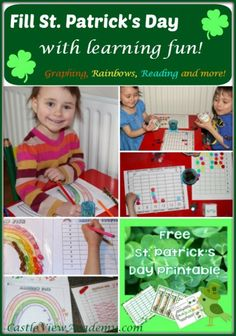Free ST. Patrick's Day with learning fun graphing, rainbows, reading, and more!