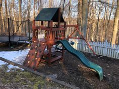 Playset Refurbish (tune-up, sand, stain/seal, add new swingbeam) Wood Playground, Relocation Services, Older Models, Seal, Yard, Diy, Patio, Bricolage, Do It Yourself