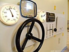 DIY upcycled car dashboard sensory board for kids - great for imaginative play from And Next Comes L