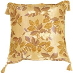 The Pillow Décor decorative pillow collection includes the Leaf Textures in Neutral and Cream Throw Pillow