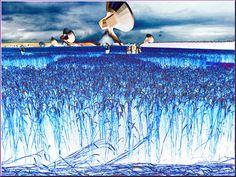 'Menschen im Kornfeld (2)' von Rudolf Büttner bei artflakes.com als Poster oder Kunstdruck $18.02