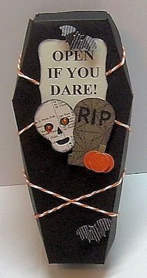 #Halloween #casket treat holder #stampin up