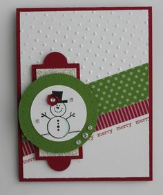 2011 Stampin Up Christmas Cards Homemade Christmas Cards, Christmas Cards To Make, Xmas Cards, Homemade Cards, Holiday Cards, Christmas Layout, Christmas Ideas, Greeting Cards, Card Making Inspiration