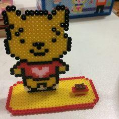 Winnie the Pooh photo holder perler beads by secret_beads