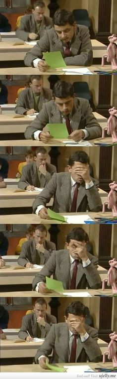 When I look at a final exam for the first time.
