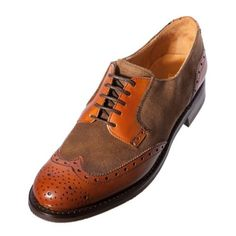 Amazon.com: JOHN SPENCER 9516 Ladies Womens Dark Tan Leather Suede Combi Brogue Shoe: Shoes
