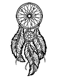 Dreamcatcher To Print And Color Big FeathersFrom The Gallery Zen Anti Stress