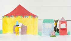 Turn that cherrio box into a circus! Rainy day craft project