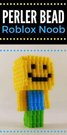 3D Perler Bead Roblox noob