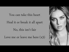 Little Mix - Love Me Or Leave Me (Lyrics & Pictures) - YouTube
