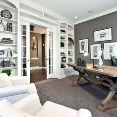 Home Office Design Ideas, Pictures, Remodel and Decor Man Office, Office Den, Guest Room Office, Home Office Space, Study Office, Home Office Decor, Home Office Design, House Design, Office Designs