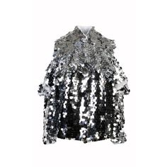 Anouki Sparkly Silver Shirt ($680) ❤ liked on Polyvore featuring tops, silver, checked shirt, shirt top, silver shirt, checkerboard shirt and sparkly tops