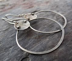 Earthy Modern Handcrafted Jewelry by LostSparrowJewelry on Etsy Metal Jewelry, Custom Jewelry, Silver Jewelry, Antique Jewelry, Artisan Jewelry, Handcrafted Jewelry, Handmade Silver, Handmade Items, Silver Earrings