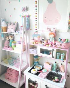 Girls Room Organization Bedrooms Children 28 Ideas For 2019 Girls Room Organization, Girls Room Storage, Ikea Duktig, Kawaii Room, Daughters Room, Toy Rooms, Little Girl Rooms, Little Girls Room Decorating Ideas Toddler, Nursery Room