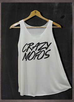 Crazy Mofos 1D One Direction Shirt Tank Top Women Size S and M on Etsy, $14.99