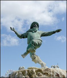 Jolly Fisherman Statue, Tower Gardens, Skegness, Lincolnshire - Ghost in the Electric Blue Suit http://knopfdoubleday.com/book/235214/the-ghost-in-the-electric-blue-suit/