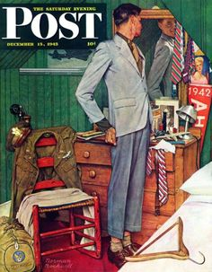 Imperfect Fit -  by Norman Rockwell, December 15, 1945.