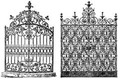 Very Victorian wrought iron gates