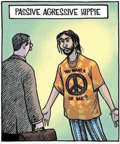 Passive agressive Hippie | LaughLoad  lol i get it