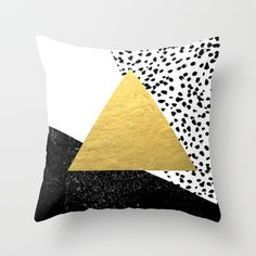 Buy Rexa - gold abstract minimal tribal glitter triangle geometric art cell phone case brooklyn austin  Throw Pillow by CharlotteWinter. Worldwide shipping available at Society6.com. Just one of millions of high quality products available.