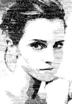 Emma Watson Typography Portrait by CHRISTIAN GHOLSON