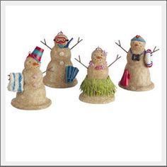 Sandman Beach Christmas Ornaments. Snowman, coastal style. The traditional snowman inspired our sandman ornament. Recreated to resemble a creation from sand, this ornament is a must for any beach tree.