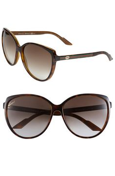 Gucci Stripe 60mm Cat's Eye Sunglasses (Online Only) available at #Nordstrom