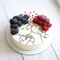 Tag your bestfriend friends kiss cake repost Cooking Cake. Tag your bestfriend friends kiss cake repost Cooking Cake.msk This cake is so original! I am fan! Hers hairs are so… Pretty Cakes, Cute Cakes, Food Cakes, Cupcake Cakes, Bolo Original, Decoration Patisserie, Cooking Cake, Love Cake, Creative Cakes