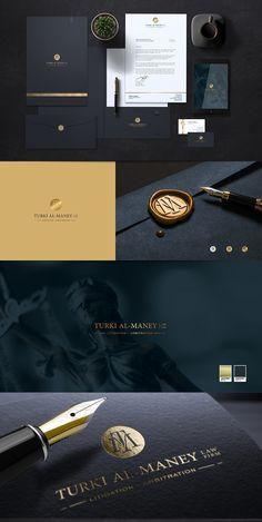 Law Firm Logo - Turki Al-Maney - Ivancco Design Corporate Identity Design, Brand Identity Design, Branding Design, Luxury Branding, Lawyer Business Card, Business Card Design, Design Corporativo, Vector Design, Law Firm Logo