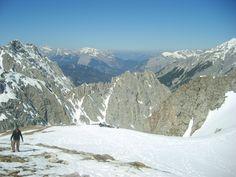 Austrian Alps above Innsbruck Snowy Mountains, Innsbruck, Alps, Mount Everest, Memories, Spaces, Winter, Travel, Winter Time