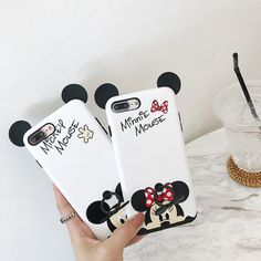 Holder Case For Iphone 8 Mickey Mouse Cartoon Kawaii Soft Case Iphone 8 Plus 7 6