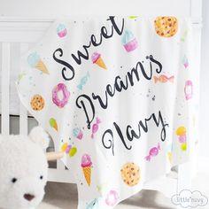 Personalized 'Sweet Dreams' Organic Swaddle Blanket – Shop Project Nursery