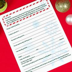 State Your Case to Santa Letter
