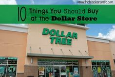 10 Things You Should Buy at the Dollar Store.  I was not always a fan of dollar stores, until I realized there are quite a few items sold there that we use all the time.