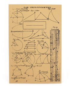 Trigonometry Graphic EcoJournal   Cognitive Surplus Science Gifts, Science Notebooks, Trigonometry, Nerdy, Screen Printing, Recycling, Stationery, Things To Come, Math