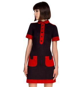 MARMALADE 1960s Mod Contrast Pocket Polo Dress B/R