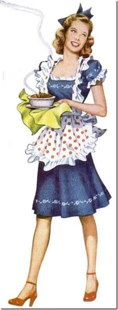 This kind of represents a semi modern Tessie. The pie she's holding would or could be prop that Tessie would have trying to reason with her husband about a lot of the things that she did or a lot of the things that went down. This picture also represents how I chose to represent Tessie because she's not too maid up but she is pretty and innocent looking.