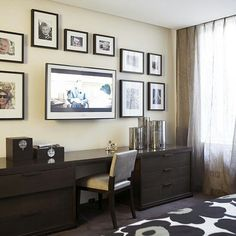 What a great solution for maintaining a study area in living room.