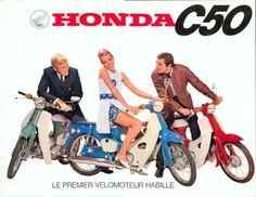 Honda C50 – Le premier velomoteur habille
