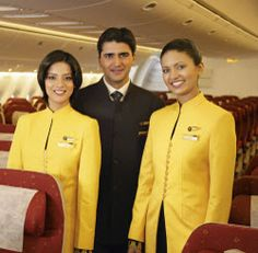 Cabin crew have always tried to look good, but which airline's outfits look the best? Aviation Blog, Jet Airways, Airline Uniforms, Cabin Crew, Flight Attendant, Western Outfits, Occasion Wear, Modern Fashion, Refashion