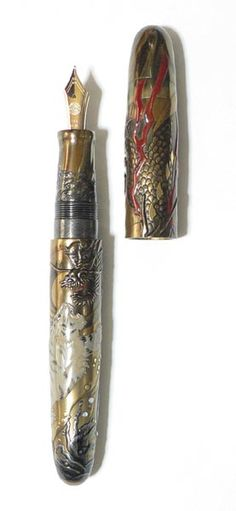 Dragon and White Tiger by NAKAYA FOUNTAIN PEN