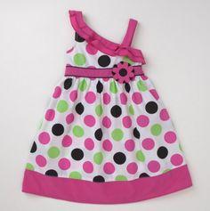 Infant Girls' Poplin Big Polka Dots Sundress - Fast Ship: Party Perfect Dresses - Events