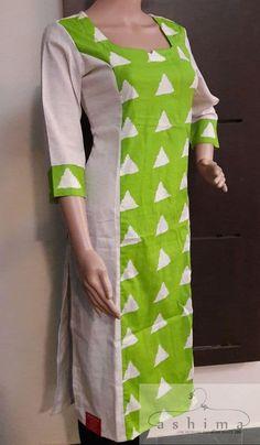 View our collection of kurtis online Kurtha Designs, Chudi Neck Designs, Dress Neck Designs, Blouse Designs, Kurti Sleeves Design, Kurta Neck Design, Churidar Designs, Kurta Designs Women, Long Kurti Patterns