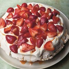 If you've ever made a Nigella Lawson recipe, you know she tends to just knock it out of the park, every time. Try this stunning strawberry-passionfruit pavlova with pepper and rose.