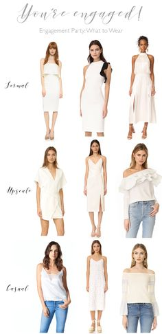 Wedding Wednesday: Engagement Party and Rehearsal Dinner Dresses