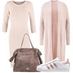 In queste bellissime giornate di sole dicembrino questo look composto da vestitino, maxicardigan e sneakers è un'alternativa perfetta per essere comode e trendy.
