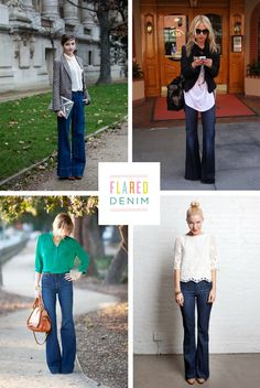 Great ways to wear flared denim.