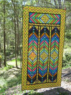 Citrine - Stained glass french braid quilt by Jessica - Scrappy n Happy, via Flickr