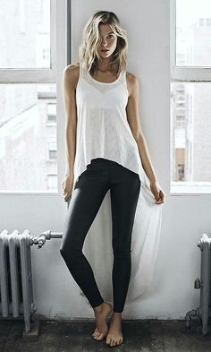 Karlie Kloss Rocks Casual Tees for Express  August 3, 2015